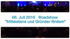 """Roadshow """"Mittelstand und Gründer fördern"""""""